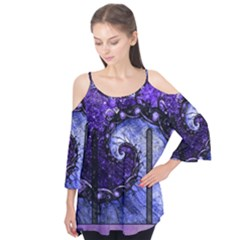 Beautiful Violet Spiral For Nocturne Of Scorpio Flutter Tees