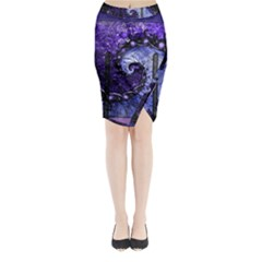 Beautiful Violet Spiral For Nocturne Of Scorpio Midi Wrap Pencil Skirt