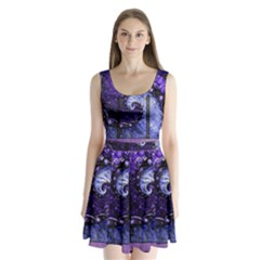 Beautiful Violet Spiral For Nocturne Of Scorpio Split Back Mini Dress