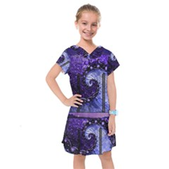 Beautiful Violet Spiral For Nocturne Of Scorpio Kids  Drop Waist Dress