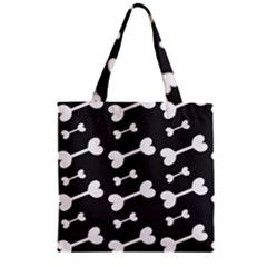 Bones Bg Zipper Grocery Tote Bag