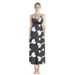 Bones Bg Button Up Chiffon Maxi Dress