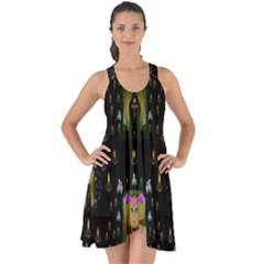 Queen In The Darkest Of Nights Show Some Back Chiffon Dress