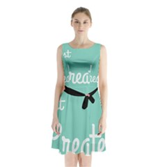 Bloem Logomakr 9f5bze Sleeveless Waist Tie Chiffon Dress