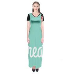 Bloem Logomakr 9f5bze Short Sleeve Maxi Dress