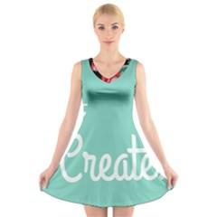Bloem Logomakr 9f5bze V Neck Sleeveless Skater Dress