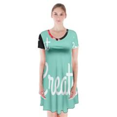 Bloem Logomakr 9f5bze Short Sleeve V Neck Flare Dress