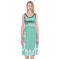 Bloem Logomakr 9f5bze Midi Sleeveless Dress