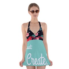 Bloem Logomakr 9f5bze Halter Dress Swimsuit