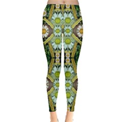 Bread Sticks And Fantasy Flowers In A Rainbow Leggings