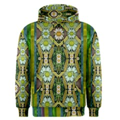 Bread Sticks And Fantasy Flowers In A Rainbow Men s Pullover Hoodie