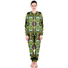 Bread Sticks And Fantasy Flowers In A Rainbow Onepiece Jumpsuit (ladies)
