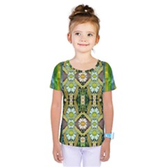 Bread Sticks And Fantasy Flowers In A Rainbow Kids  One Piece Tee