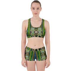 Bread Sticks And Fantasy Flowers In A Rainbow Work It Out Sports Bra Set