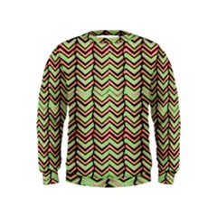Zig Zag Multicolored Ethnic Pattern Kids  Sweatshirt