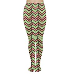 Zig Zag Multicolored Ethnic Pattern Women s Tights