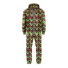 Zig Zag Multicolored Ethnic Pattern Hooded Jumpsuit (kids)