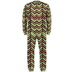 Zig Zag Multicolored Ethnic Pattern Onepiece Jumpsuit (men)