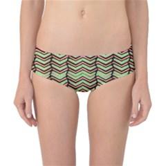 Zig Zag Multicolored Ethnic Pattern Classic Bikini Bottoms