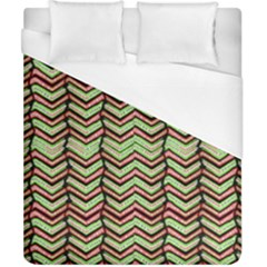 Zig Zag Multicolored Ethnic Pattern Duvet Cover (california King Size)