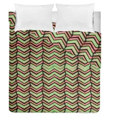 Zig Zag Multicolored Ethnic Pattern Duvet Cover Double Side (queen Size)