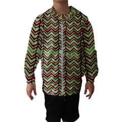 Zig Zag Multicolored Ethnic Pattern Hooded Wind Breaker (kids)