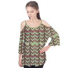 Zig Zag Multicolored Ethnic Pattern Flutter Tees