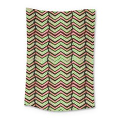 Zig Zag Multicolored Ethnic Pattern Small Tapestry
