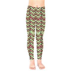 Zig Zag Multicolored Ethnic Pattern Kids  Legging