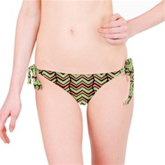 Zig Zag Multicolored Ethnic Pattern Bikini Bottom