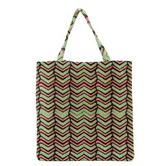 Zig Zag Multicolored Ethnic Pattern Grocery Tote Bag