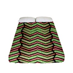 Zig Zag Multicolored Ethnic Pattern Fitted Sheet (full/ Double Size)