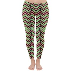 Zig Zag Multicolored Ethnic Pattern Classic Winter Leggings