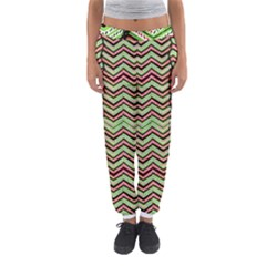 Zig Zag Multicolored Ethnic Pattern Women s Jogger Sweatpants