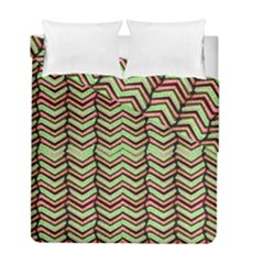 Zig Zag Multicolored Ethnic Pattern Duvet Cover Double Side (full/ Double Size)