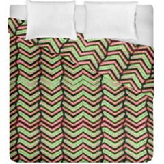 Zig Zag Multicolored Ethnic Pattern Duvet Cover Double Side (king Size)