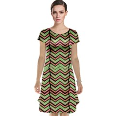 Zig Zag Multicolored Ethnic Pattern Cap Sleeve Nightdress