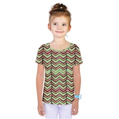 Zig Zag Multicolored Ethnic Pattern Kids  One Piece Tee