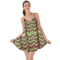 Zig Zag Multicolored Ethnic Pattern Love The Sun Cover Up