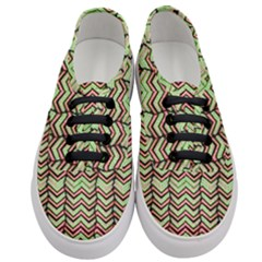 Zig Zag Multicolored Ethnic Pattern Women s Classic Low Top Sneakers
