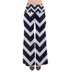 Chevron9 Black Marble & White Leather (r) Pants