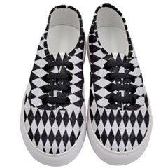 Diamond1 Black Marble & White Leather Women s Classic Low Top Sneakers
