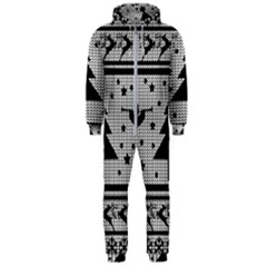 Ugly Christmas Sweater Hooded Jumpsuit (men)