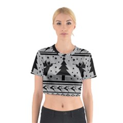 Ugly Christmas Sweater Cotton Crop Top