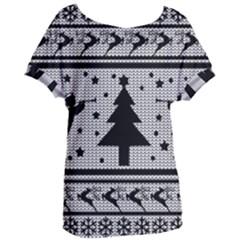 Ugly Christmas Sweater Women s Oversized Tee
