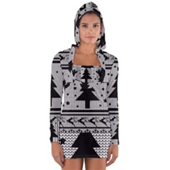 Ugly Christmas Sweater Long Sleeve Hooded T Shirt