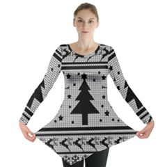 Ugly Christmas Sweater Long Sleeve Tunic