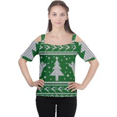 Ugly Christmas Sweater Cutout Shoulder Tee