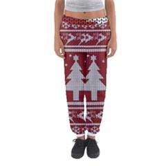 Ugly Christmas Sweater Women s Jogger Sweatpants
