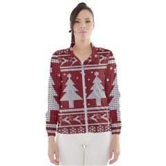 Ugly Christmas Sweater Wind Breaker (women)